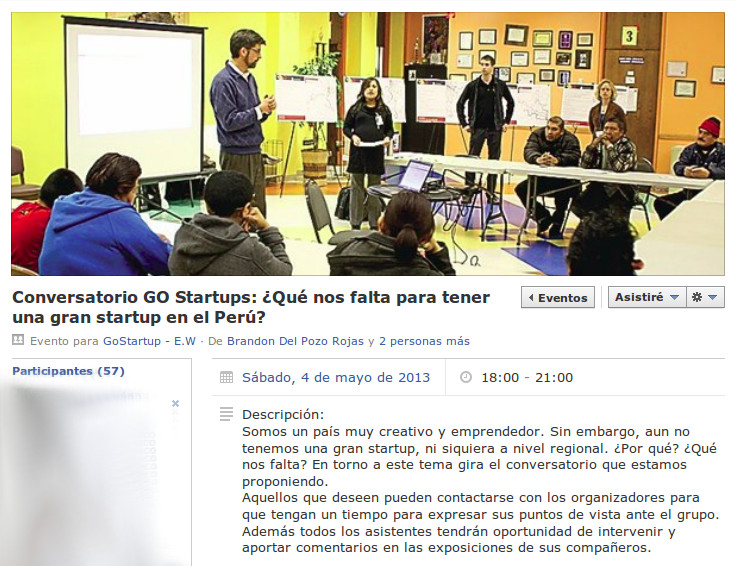 El evento en Facebook