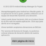 Donación en Money Manager EX en Android.