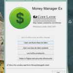 Primera pantalla de Money Manager EX.
